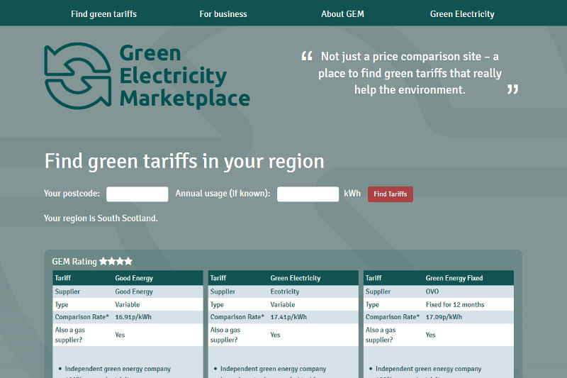 Green Electricity Marketplace