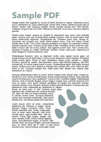 A sample PDF